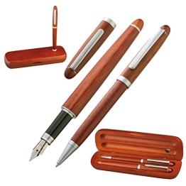 Schönes Holz-Schreibset