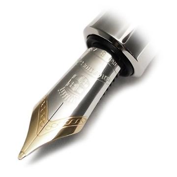 Graf von Faber Castell Pen of the Year 2014 Kolbenfüllfederhalter Schaft mit 6 eingearbeitete Elemente aus Jaspis Feder B - 4
