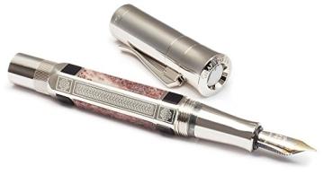 Graf von Faber Castell Pen of the Year 2014 Kolbenfüllfederhalter Schaft mit 6 eingearbeitete Elemente aus Jaspis Feder B - 8