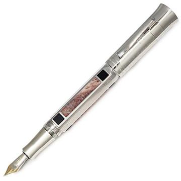 Graf von Faber Castell Pen of the Year 2014 Kolbenfüllfederhalter Schaft mit 6 eingearbeitete Elemente aus Jaspis Feder B - 2