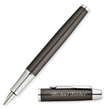 PARKER Schreibset IM Gunmetal C.C. mit Laser-Gravur Füllfederhalter und Kugelschreiber im großen Geschenk-Etui - 2