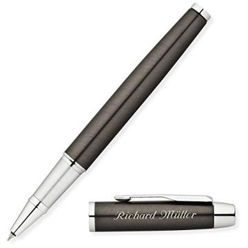 PARKER Tintenroller IM Gunmetal C.C. S0856410 mit persönlicher Laser-Gravur - 2