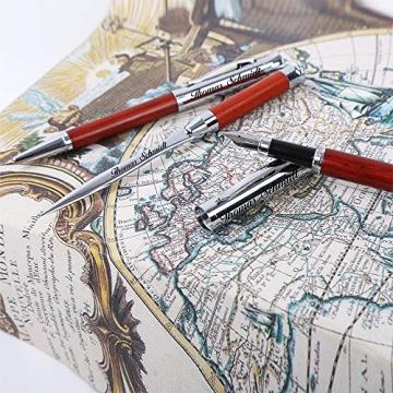 Schreibset Borkum - Braun inkl. Wunschgravur mit Geschenkbox aus Holz / Glas - 3