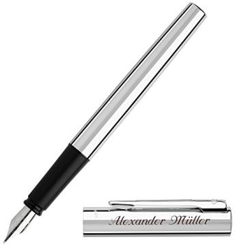 WATERMAN Schreibset Sonderedition mit Etui GRADUATE Chrom C.C. mit Gravur Füllfederhalter und Kugelschreiber - 2