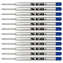 Ersatz-Minen für Kugelschreiber, qualitativ hochwertig, blau, 12 Stück Auch geeignet für Parker Kugelschreiber - 1