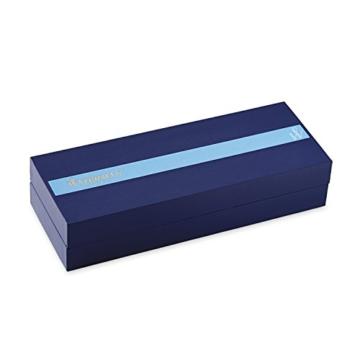 Waterman 1904599 Hémisphère-Füllfederhalter (mittelstarke Feder, Lack blue Obsession mit Palladiumzierteilen, blaue Tinte) - 6