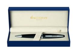 Waterman Carène S0293950 Kugelschreiber (Ausführung Black Sea mit Palladium-Rand, mittelstarke Spitze, Tinte in Blue) - 1